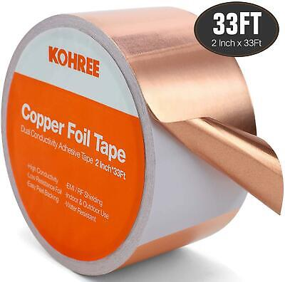 Gold Copper Foil Tape With Conductive Adhesive 2 X 33 Ft Electrical Copper