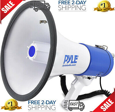 Megaphone Speaker Pa Bullhorn - With Built-in Siren 50 Watts Adjustable Volume