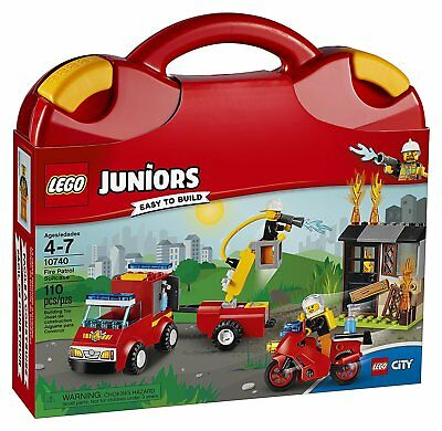 Building Set Toy LEGO Junior Fire Patrol Rescue Adventure Play Brick Box Gift (Lego Junior Bricks)