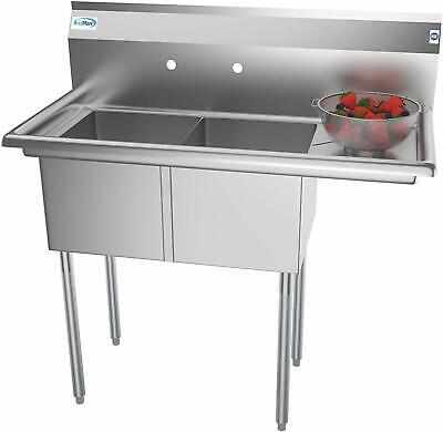 Commercial Sink Basement Restaurant Garage Stainless Steel Tubs Wash Rinse Clean