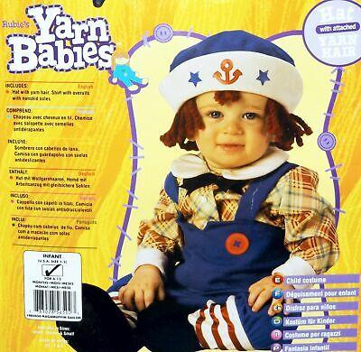 Rubie's Yarn Babies Boy Halloween Costume Ragamuffin Sailor Infants Size 6-12 Mo