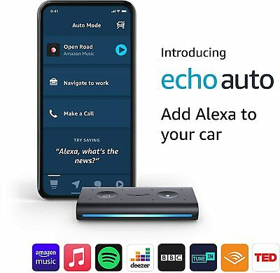 Amazon Echo Auto -Add Alexa to your Car- Smart Car Speaker with Alexa 2020 Black