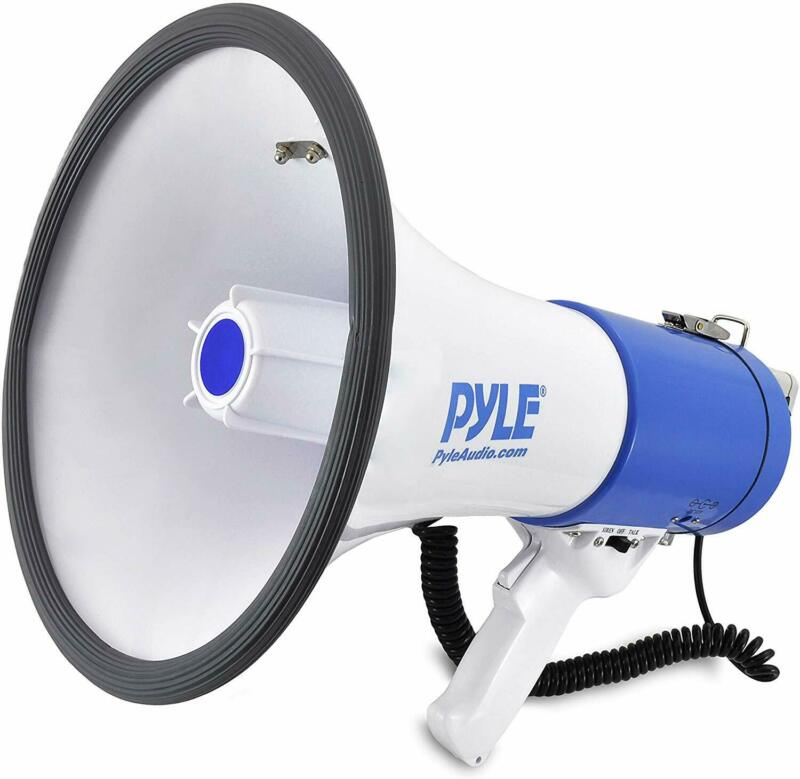 Pyle Megaphone Speaker PA Bullhorn with Built-in Siren - 50