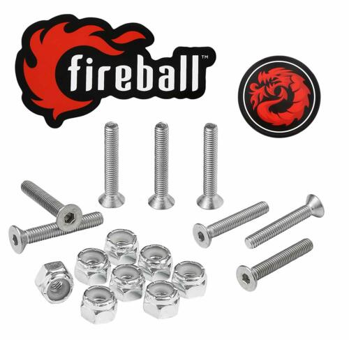 Fireball Dragon Stainless Steel Skateboard and Longboard Hardware, All Sizes NEW