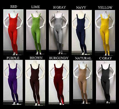 USA Made Soft Cotton Lycra Sleeveless Unitard Bodysuit. From S,M ,L, XL,2XL, 3XL