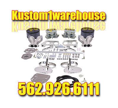 Dual 40 Or 44mm Empi Hpmx Carb Kits For Vw Volkswagen Carburetors Idf Conversion