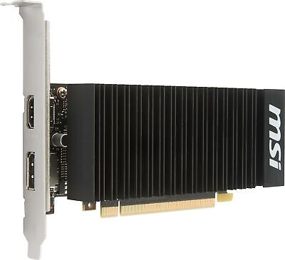 MSI GeForce GT 1030 2GH LP OC Graphics Card, Fanless Heatsink, Low Profile 2