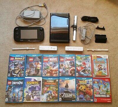 Nintendo Wii u Console Bundle With Controllers 13 Games  Zelda Mario Lego Sonic