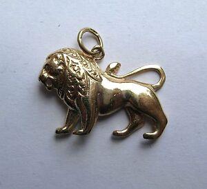 9ct Gold Leo the Lion Zodiac Starsign Pendant 2.4g Hallmarked