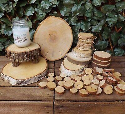 Wooden Log Slice Pine Birch Christmas Wedding Table Centrepiece Home Decoration - Christmas Centerpiece Decorations