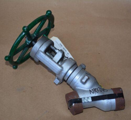 Edward Flowserve 66228 25mm 4595 PSI A105 SCH 80 angle seat forged stop valve BW