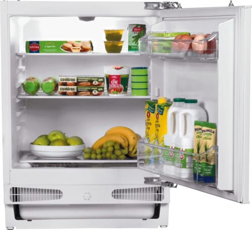 Bush BUCL6082 133L A+ Integrated Under Counter Larder Fridge - White.