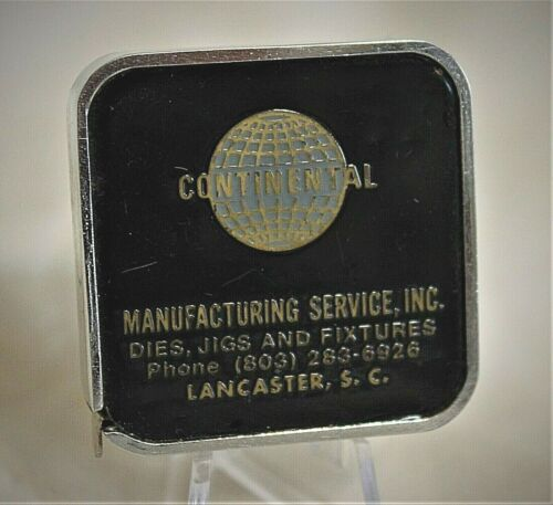 Vintage BARLOW Tape Measure Continental Manufacturing Services Lancaster SC
