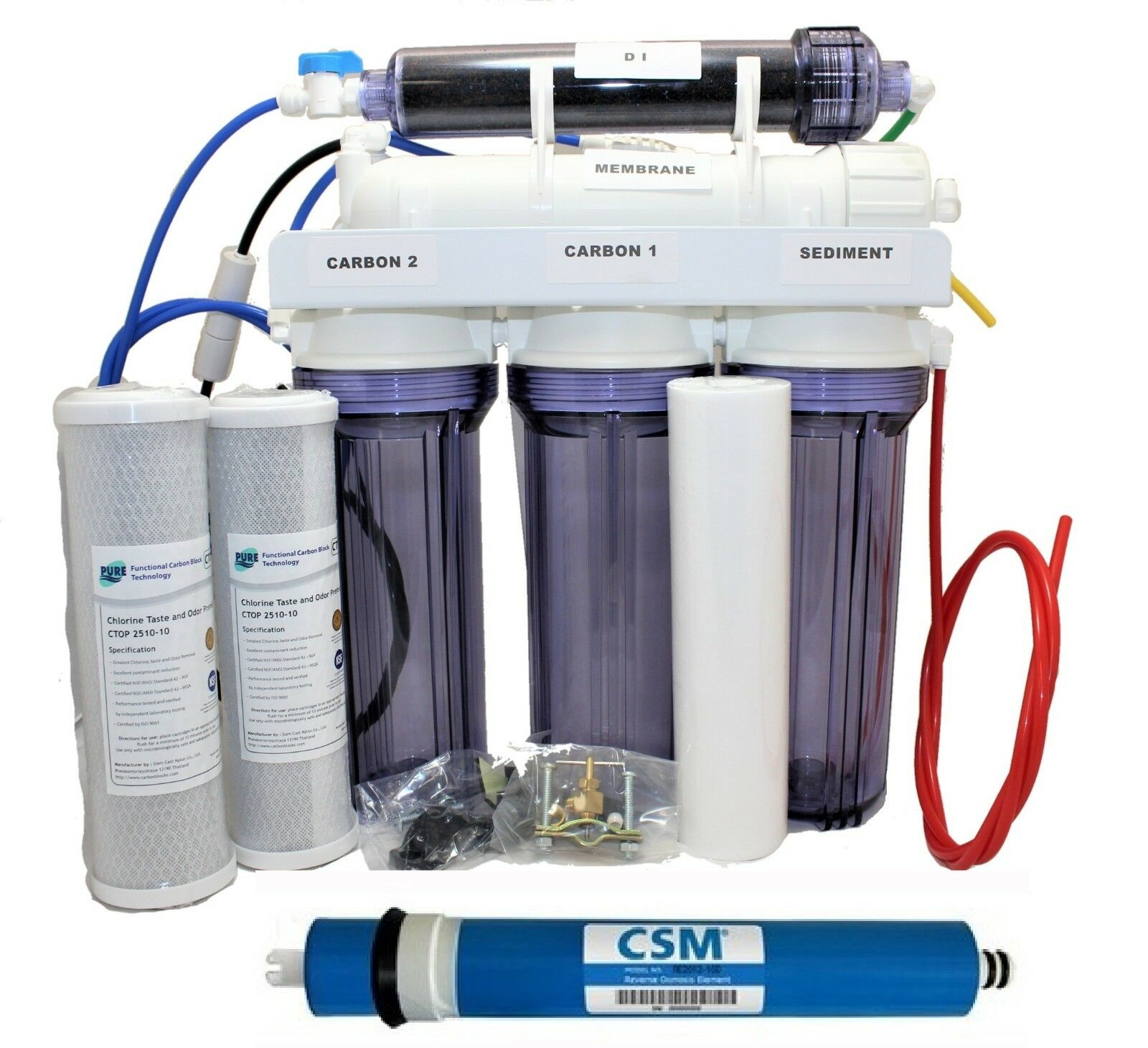Di Reverse Osmosis Deionization System 5 Stage Ro 100 Gpd