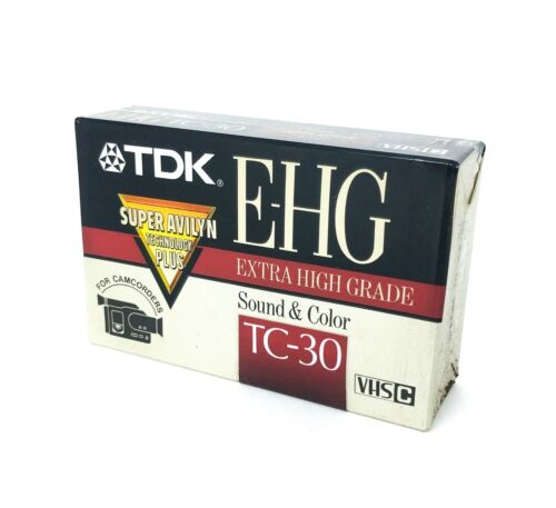 TDK TC-30 EHG VHS-C Video Cassette Made in Japan Extra High Grade New