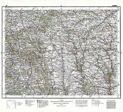 MAP 1924 POLISH MILITARY Wilejka AREA POLAND LARGE REPLICA POSTER PRINT PAM0449