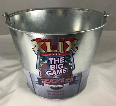 XLIX The Big Game 2015 Ice Bucket Tin Pail Tailgate Party Beer Holder Man Cave](Big Ice Bucket)