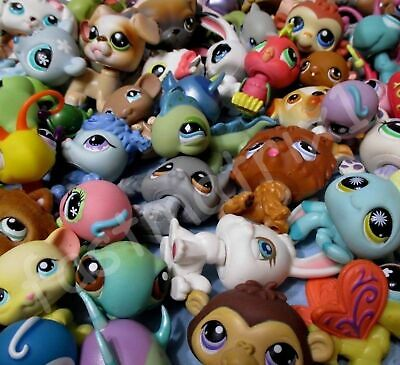 Littlest Pet Shop Lot 10 Pcs Random Figures and 2 Accessories Authentic LPS