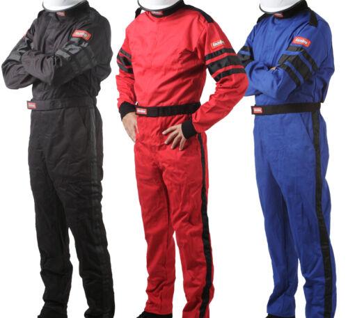 RaceQuip - 110 SFI-1 Auto Racing Suit - 1-Piece Nomex Style Fire Rated Race Suit