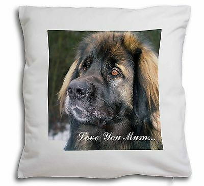 Black Leonberger 'Love You Mum' Soft Velvet Feel Cushion Cover Wi, AD-L56lym-CPW