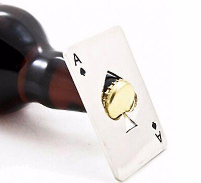 High Quality Ace Of Spades Cards Bottle Opener Bridge Poker Canasta UK Seller