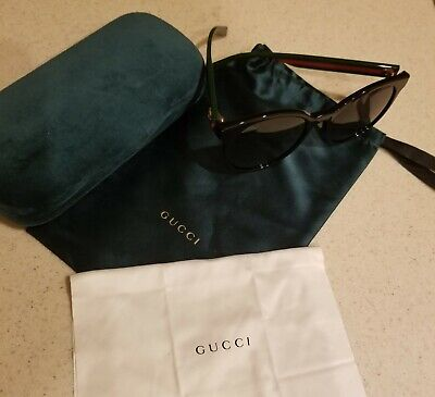 Gucci Black Round - Green and Red Sides Style Gg0416sk 002