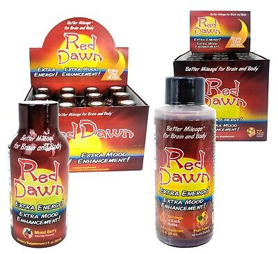 Red Dawn Energy Drink Shots, Extra Energy & Mood, Mixed Berry & Fruit Punch, 2oz