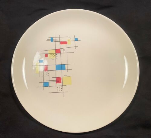 Vintage Salem Mardi Gras Scarce Abstract Patterned Dinner Plate Mid-Century 62U