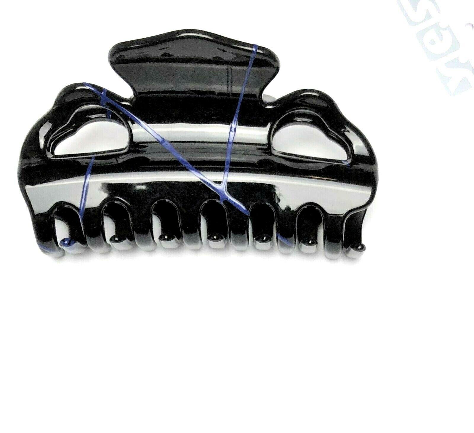 Haarkrebs Haarklammer Haarspange Haarclip Haarkralle schwarz blau 9 cm x 4,5 cm
