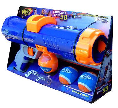 Nerf Gun Dog Tennis Ball Launcher Blaster Includes 3 Nerf Ba