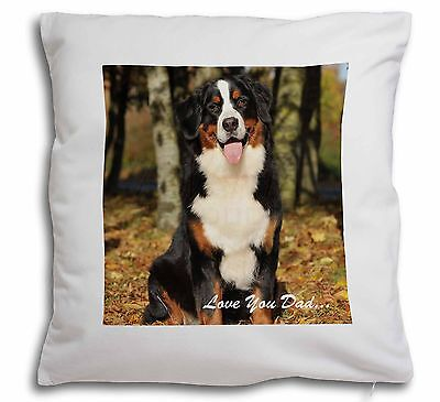 Bernese Mountain Dog 'Love You Dad' Soft Velvet Feel Cushion Cover Wi, DAD-9-CPW
