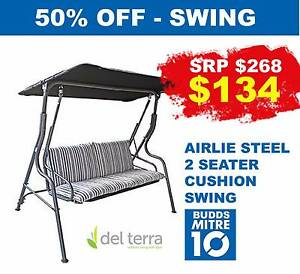 2 SEATER SWING SEAT WITH CUSHION - AIRLIE Broadbeach Gold Coast City Preview