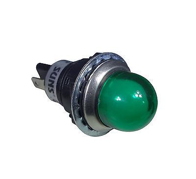"""SUNS IL5E-120E-G-Q LED 3/4"""" Green Indicator Pilot Light 120V Square D 9001OG120"""