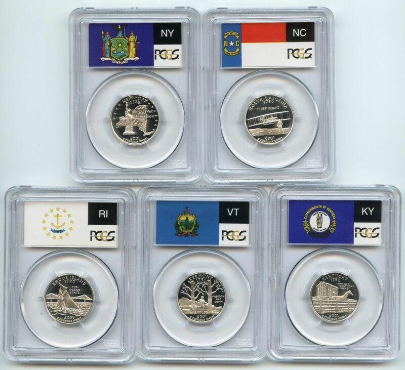 2001 S Silver State Quarter Set PCGS PR70DCAM