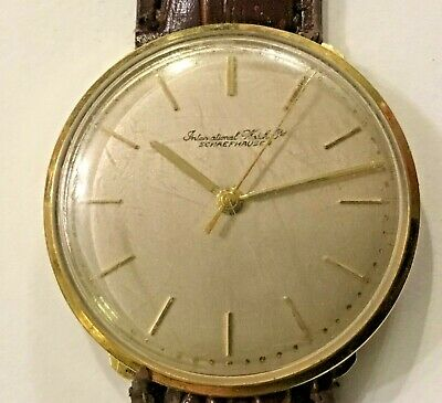Vintage Rare IWC Schaffhausen 18K Gold International Watch Co. Men's Watch