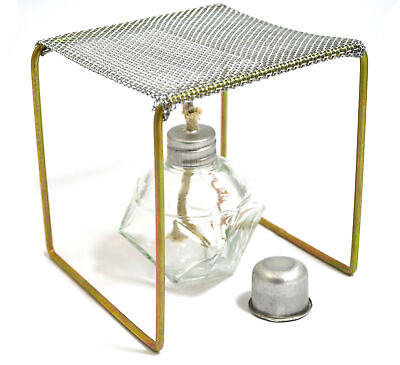 Eisco Labs Alcohol Burner With Burner Stand Approx. 5x5x5 Starter Set
