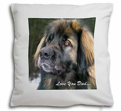 Leonberger Dog 'Love You Dad' Soft Velvet Feel Cushion Cover With In, DAD-68-CPW