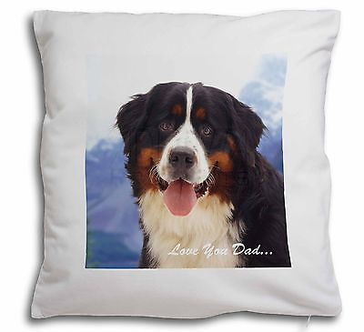 Bernese 'Love You Dad' Soft Velvet Feel Cushion Cover With Inner Pill, DAD-8-CPW