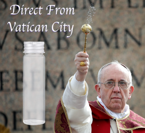 Authentic Holy Water Wax Dipped Stamped 5mL Vial Blessed By Pope Hand Made. - $16.99