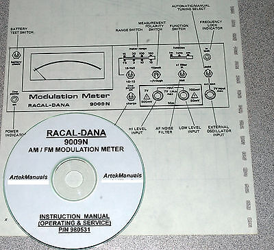 Racal-dana 9009n Modulation Meter Operator Service Manual