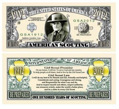Pack of 100 - Girl Scouts 100th Anniversary Novelty Money Commemorative