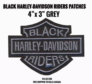 BLACK HARLEY-DAVIDSON RIDERS PATCHES