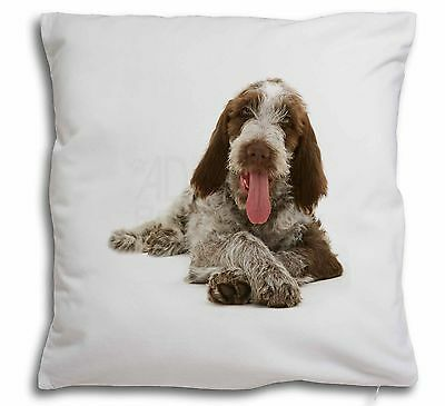 Italian Spinone Dog Soft Velvet Feel Scatter Cushion Christmas Gift, AD-SP2-CPW