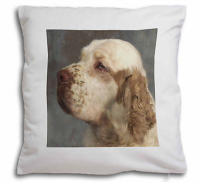 Clumber Spaniel Dog Soft Velvet Feel Scatter Cushion Christmas Gift, AD-CS1-CPW