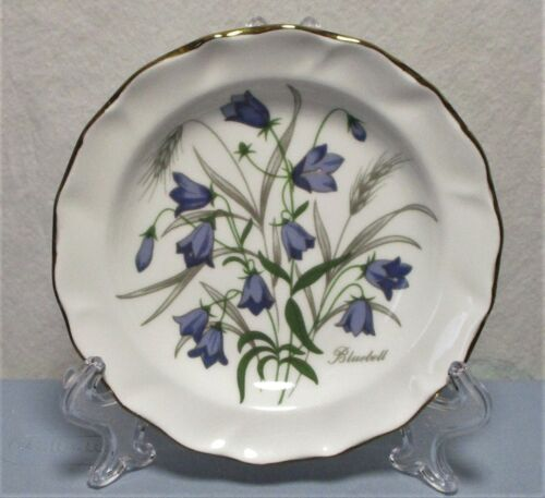 St. Andrews Fine Bone China Scotland BLUEBELL Small Plate 4.75""