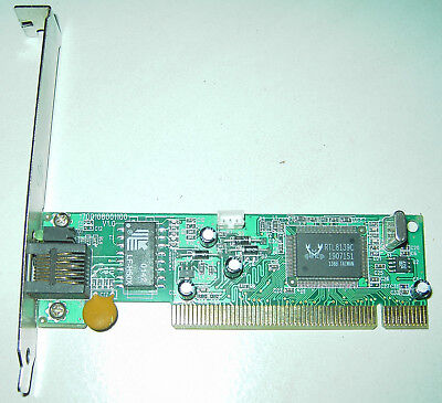 Scheda rete Realtek GQ968 10/100 1700108001100 V1.0 PCI chip RTL8139c