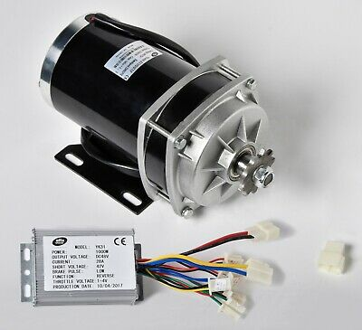 1000w 48 V Dc Gear Reduction Electric Motorreverse Capable Controller