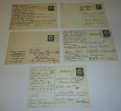 5x Arbeitsmaid R.A.D. Abt. 4 / 90 Alstedde L�nen Lippe 1938 Dortmund Warnem�nde