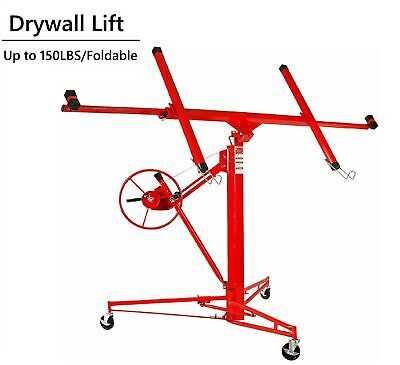 Red Drywall Lift 11panel Lifter Tool Sheetrock Hanging Rolling Caster Hoist
