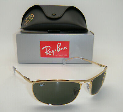 New Authentic Ray-Ban Olympian Gold Frame Green Classic G-15 RB 3119 001 (Ray Ban 62mm)